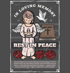 Funeral service burial memorial ceremony agency vector