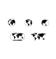 globe map world vector image