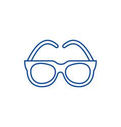 gogglessunglasses line icon concept goggles vector image