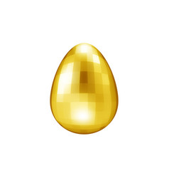 gold glass easter egg precious stone for logo vector image