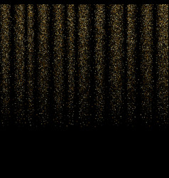 gold glitter texture isolated on black background vector image