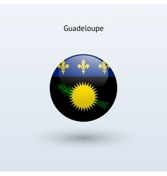 Guadeloupe round flag vector image