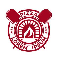 hot pizza logo vector image