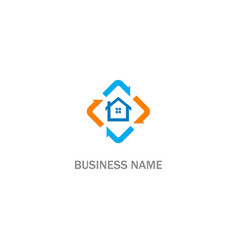 house realty business company logo vector image