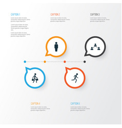 Human icons set collection of member network vector