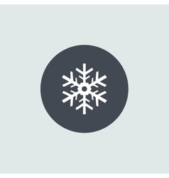 Icon Christmas snowflakes for holiday season vector image