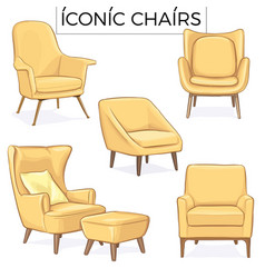 Iconic chair hand drawn vector