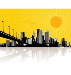 illustration with city vector image