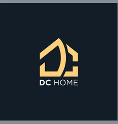 initial logo dc home abstract vector image
