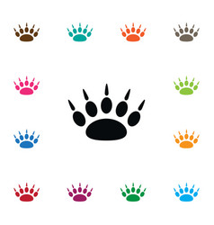 Isolated paw icon claw element can be used vector