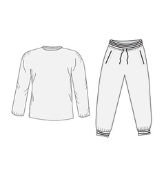 Jacket and sweatpants Tracksuit sketch set vector