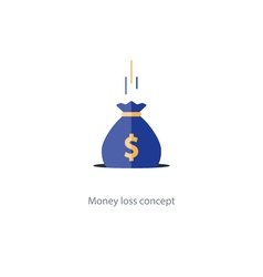 Licking money financial crisis budget management vector image