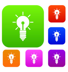light bulb idea set collection vector image