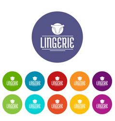 Lingerie design icons set color vector