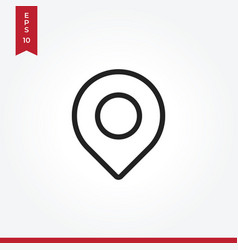 location icon in modern style for web site and vector image