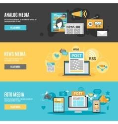 Media Banners Set vector image