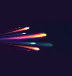 neon light rays burst from one point into many vector image
