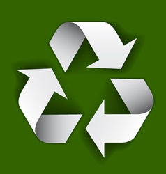 Paper recycle symbol vector