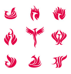 Phoenix bird logo vector