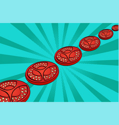 pop art tomatoes art vector image
