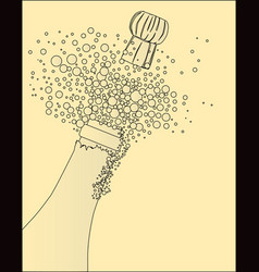 popping the cork vector image