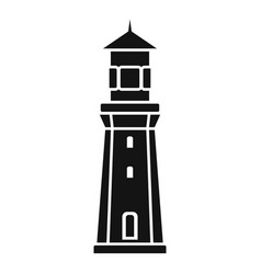 port lighthouse icon simple style vector image