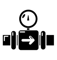 Pressure sensor icon simple black style vector