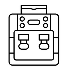 Purified water cooler icon outline style vector