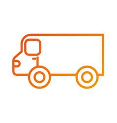 restaurant food truck trasnport service vector image