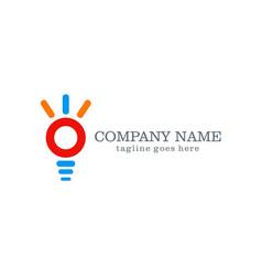 round idea company logo design vector image