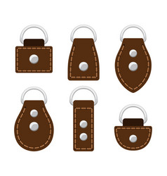 sample cartoon leather belt and buckle vector image