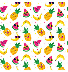 seamless doodle pattern 2 vector image
