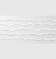 set horizontal seamless torn paper stripes vector image