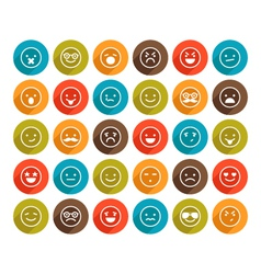 set of color smiley icons vector image