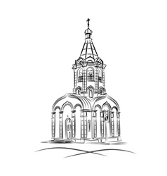 Silhouette of a russian chapel vector