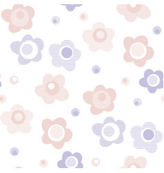 simple baby style floral pattern in pastel color vector image
