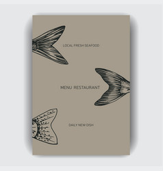 sketch sea food restaurant vector image
