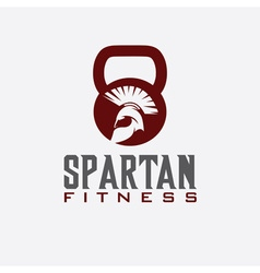 spartan fitness design template vector image