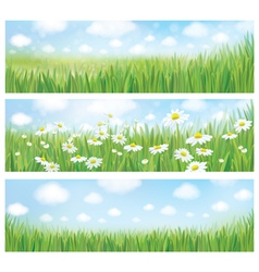 Spring nature banners vector