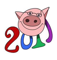 Stock symbolic pig vector