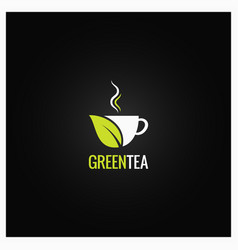 Tea cup concept design green organic tea vector