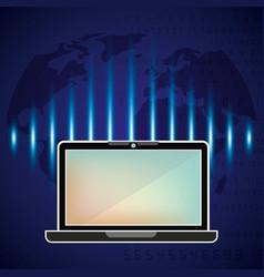 tech world design vector image