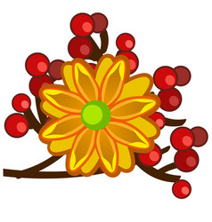 the element of autumn decor in the form of a vector image