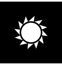 The sunrise icon Sunrise and sunshine weather vector image