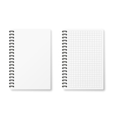 Two realistic notebook vector image