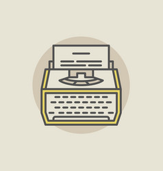 Typewriter colorful icon vector