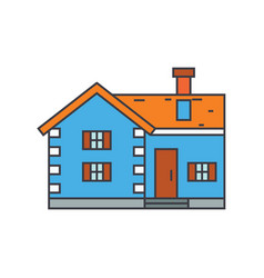 village cottage line icon concept village cottage vector image