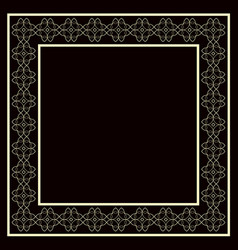 Vintage decorative frame vector
