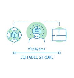 vr play area concept icon vector image