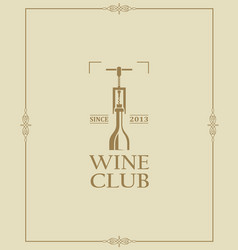 wine club label vector image